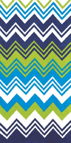New Multi Chevron Pool Towel