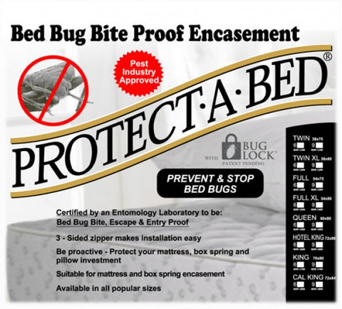 Protect-A-Bed Bed Bug Bite & Entry/Escape Proof Mattress & Box Spring Encasements