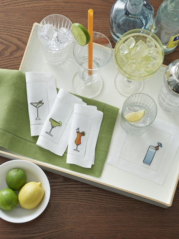 NEW Bevande Cocktail Napkins by Sferra
