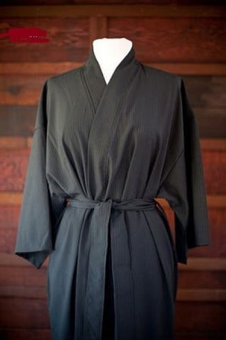Single Layer Seersucker Kimono Robe