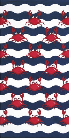 New Multi Crabs Pool Towel