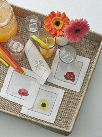 NEW Fiori Cocktail Napkins by Sferra
