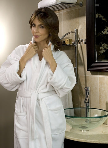 Luxury Shawl Collar Velour Robe