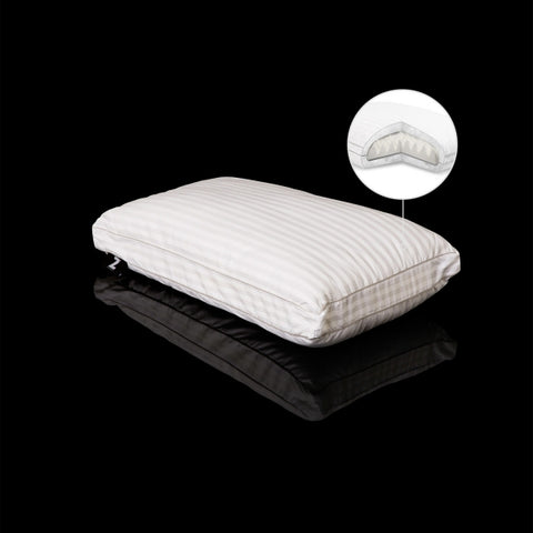 Gelled Microfiber Pillow w/Memory Foam Core