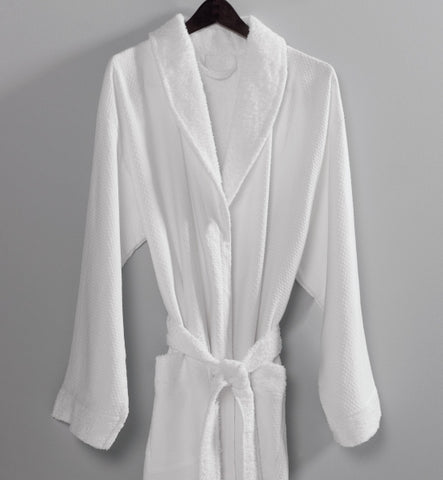 Honeycomb Shawl Collar Robe