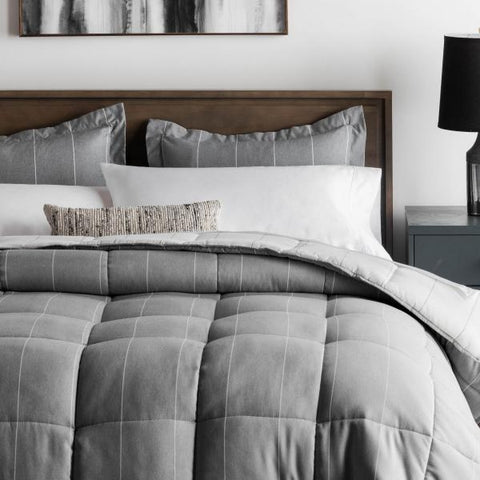 Chambray Reversible Comforter Set