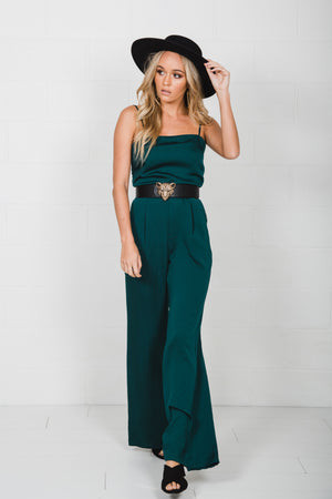 Royals Jumpsuit- Emerald
