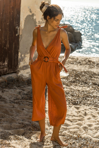 Bloom Jumpsuit- Rust
