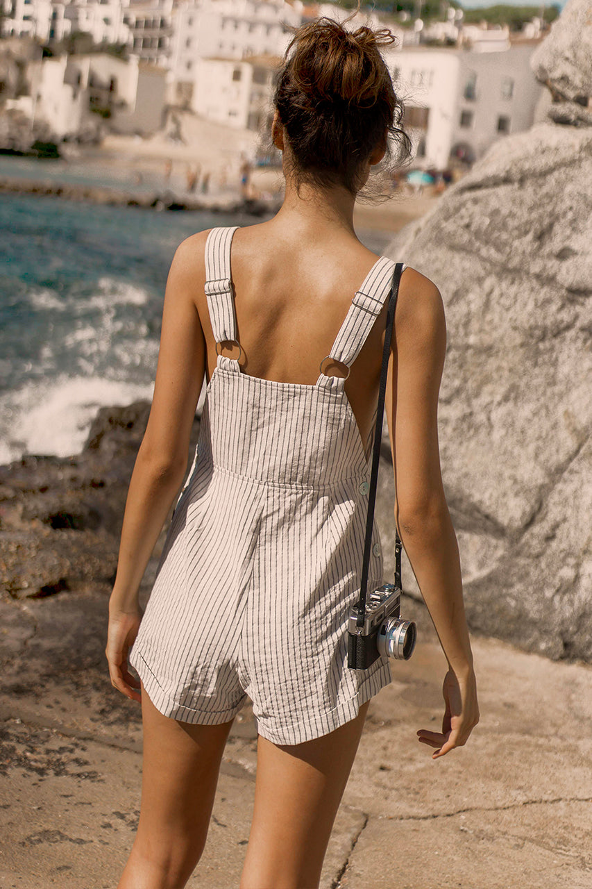 Cassidy Dungarees- White
