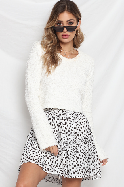 Piper Skirt- White/Black