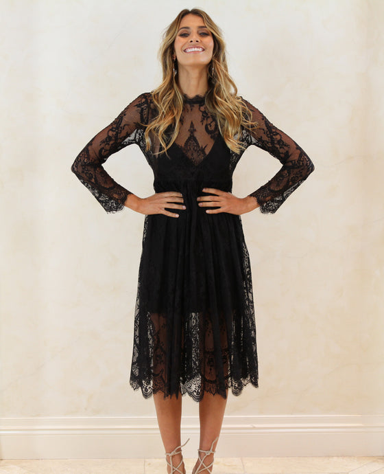 Kendall Lace Dress- Black