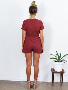 Falling Ribbed Playsuit