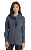 Women's New Era® Tri-Blend Fleece Full-Zip Hoodie