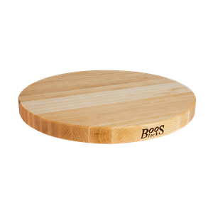 John Boos Maple Edge Grain 1-1/2-in Reversible Round Cutting Board