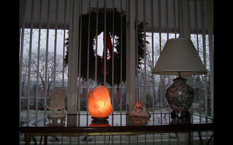 Himalayan Salt Lamp Picture Window