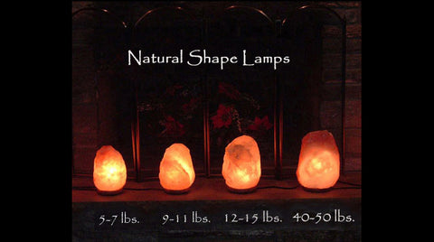 Salt Lamp Size Chart