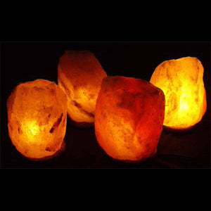 Case of 9-11 lb. Salt Lamps (4 Lamps)