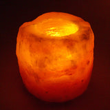 Natural Shape Salt Candle Holder