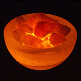 Bowl of Fire Salt Lamp