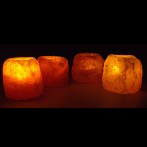 Four Salt Candle Holder Pack
