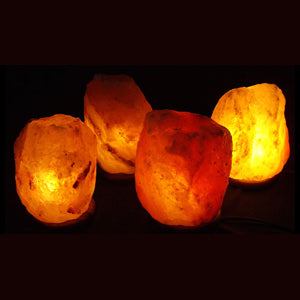 Four 9-11 LB Salt Lamps Pack