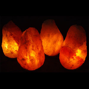 Four 12-15 lb. Salt Lamps Pack