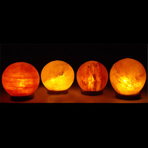 Four Globe Salt Lamps Pack