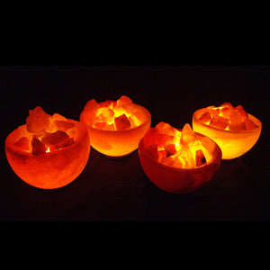 Four Bowl of Fire Salt Lamps Pack