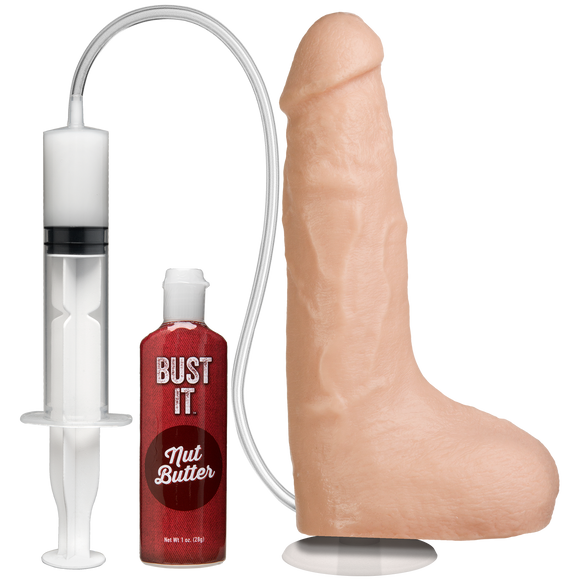 Bust It Squirting Realistic Cock - White - Pearl Pleazures