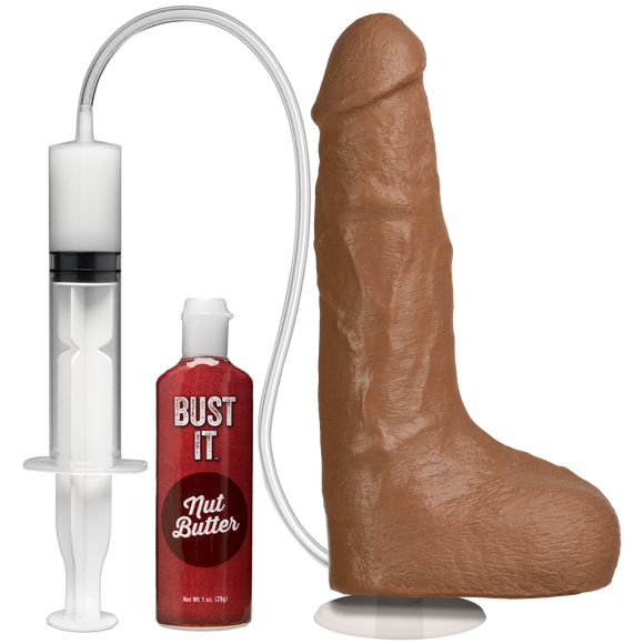 Bust It Squirting Realistic Cock - Brown - Pearl Pleazures