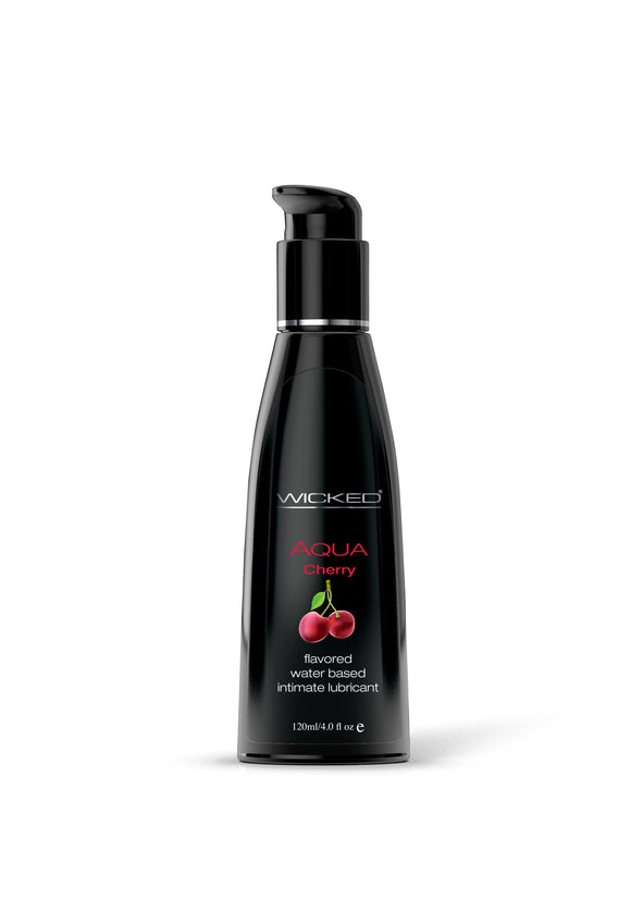 Wicked Sensual Care Aqua Waterbased Lubricant - Cherry 4 oz