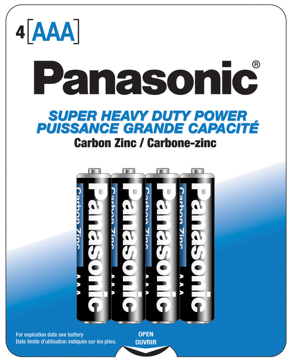 Panasonic Super Heavy Duty Battery AAA - Pack Of 4