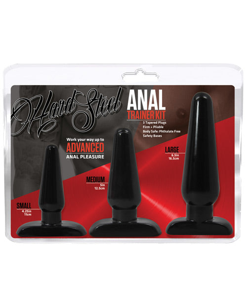 Blush Hard Steel Anal Trainer Kit - Pearl Pleazures