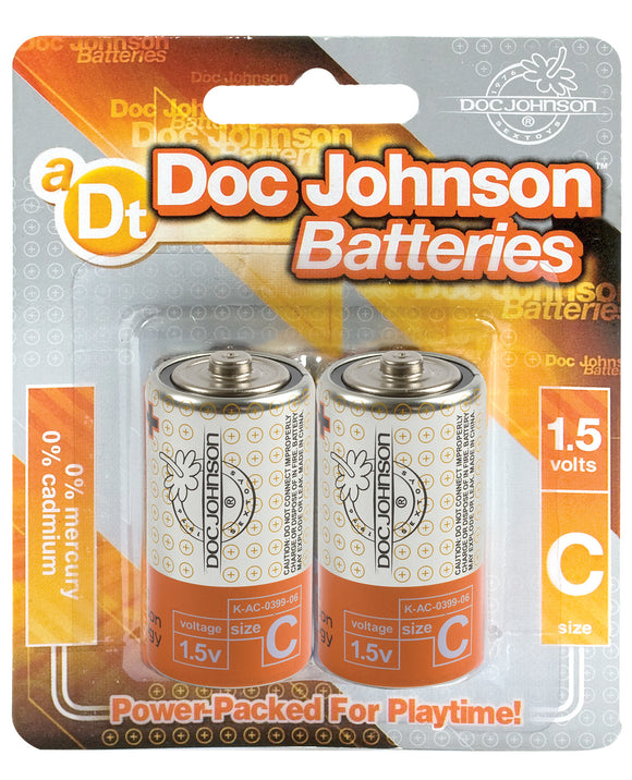 Doc Johnson Batteries - C 2-Pack - Pearl Pleazures