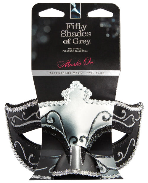 Fifty Shades of Grey - Masquerade Masks Twin Pack - Pearl Pleazures