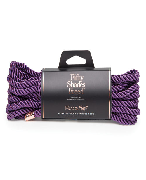 Fifty Shades Freed - 'Want To Play' Triple-Twisted Bondage Rope - Pearl Pleazures