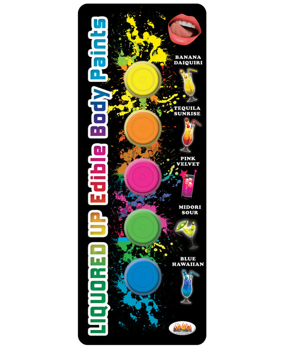 Liquored Up Edible Body Paints - 1.76 oz., Asst. Flavors, Pack Of 5