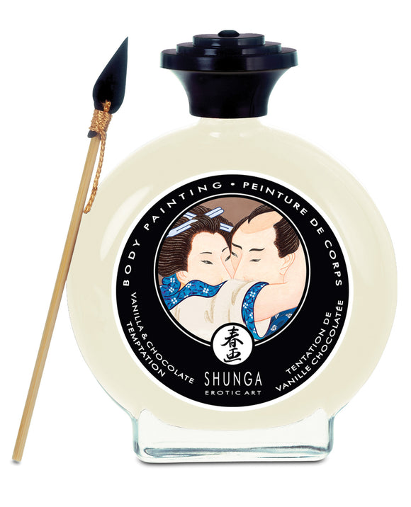 Shunga Edible Body Paint - 3.5 oz. Vanilla & Chocolate Temptation