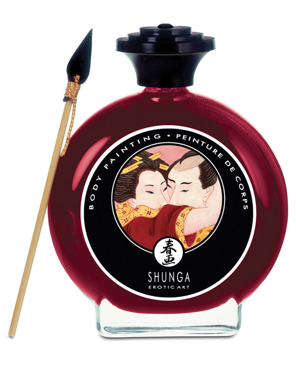 Shunga Edible Body Paint - 3.5 oz. Champagne & Strawberries