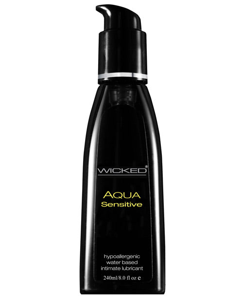 Wicked Sensual Care Hypoallergic Aqua Sensitive Lubricant - 8 Oz
