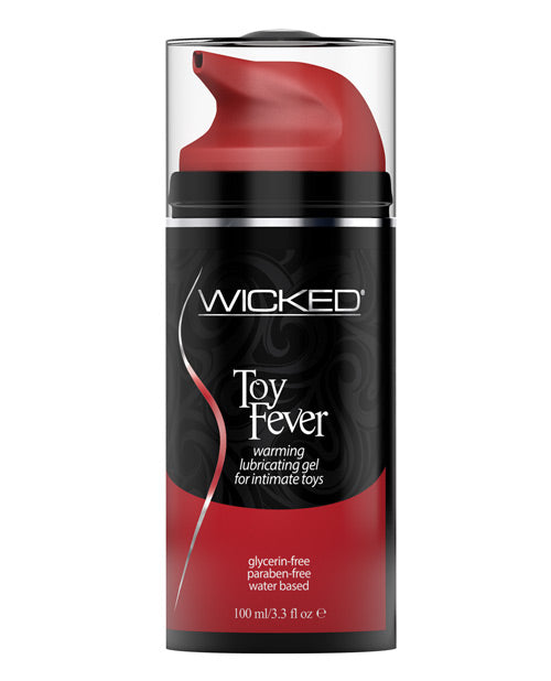 Wicked Sensual Care Toy Fever Waterbased Warming Lubricant - 3.3 Oz