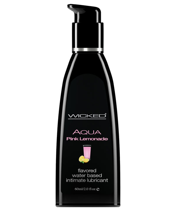 Wicked Aqua Water-based Lubricant - 2 Oz Pink Lemonade