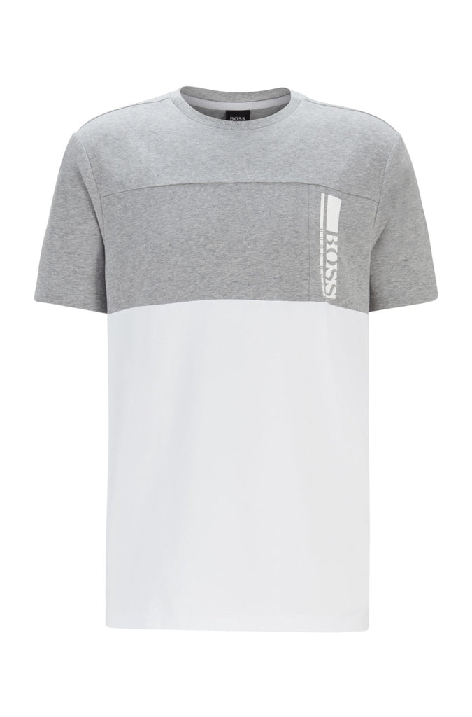 HUGO BOSS - T-shirt à logo color block en jersey de coton stretch - Lothaire boutiques (6634783834277)