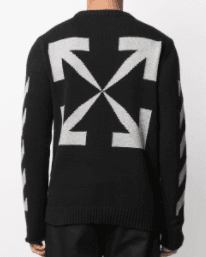 OFF-WHITE - Sweat noir ARROW - Lothaire boutiques (6185310879909)