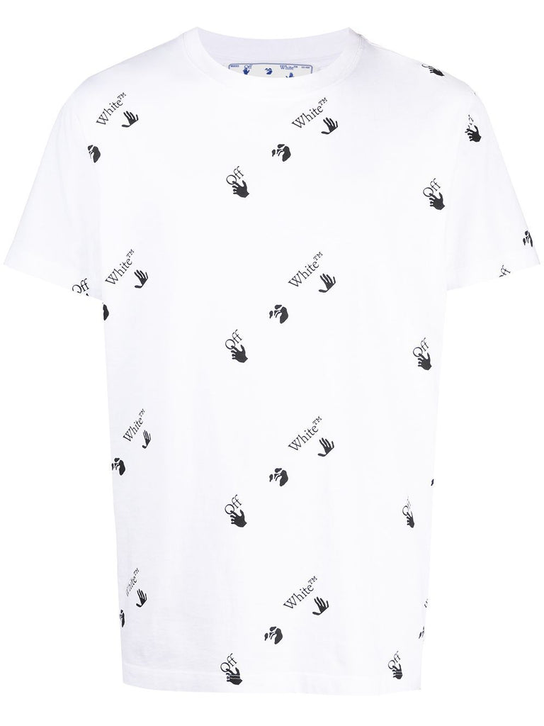 OFF-WHITE T-shirt à logo all-over - Lothaire boutiques (6640417308837)