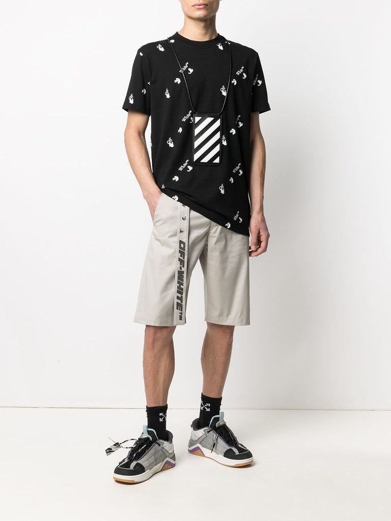 OFF-WHITE T-shirt à logo all-over noir - Lothaire boutiques (6640461709477)