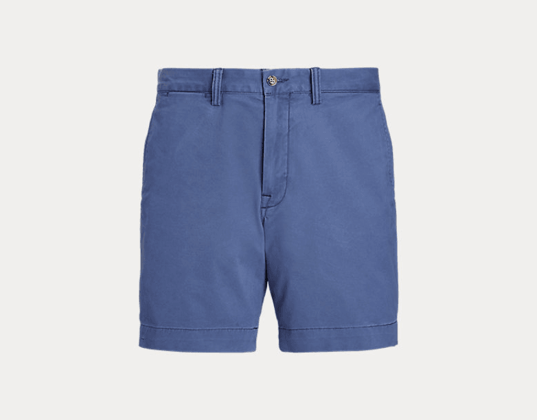 POLO RALPH LAUREN - Short droit chino stretch Federal blue - Lothaire boutiques (6548267630757)