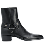 SAINT LAURENT Bottines à petit talon noires Boots SAINT LAURENT 41  (5780185776293)