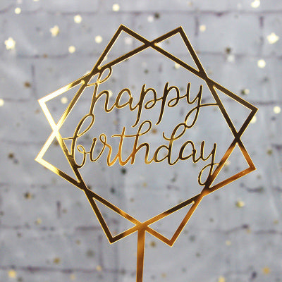 Happy Birthday Cake Topper - Ellie J Shoppe