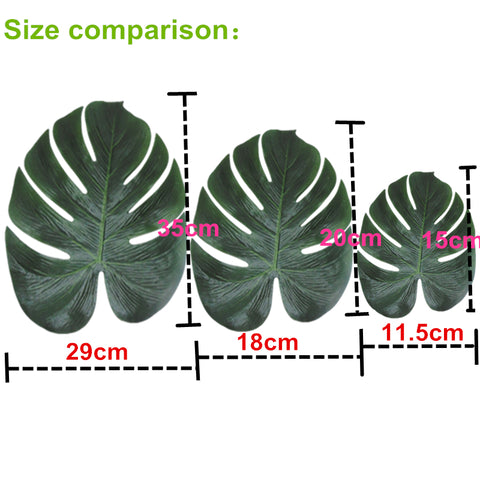 Artificial Monstera Decoration Leaf - 12 Piece Set - Ellie J Shoppe